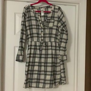 Girls long tunic shirt/dress, size 10-12